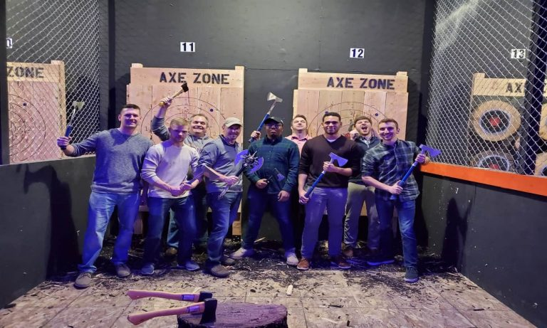 Book your bachelor or bachelorette party at axe zone