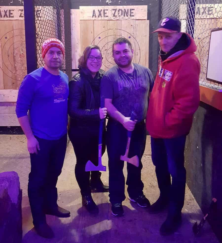 book in your next axe throwing date night